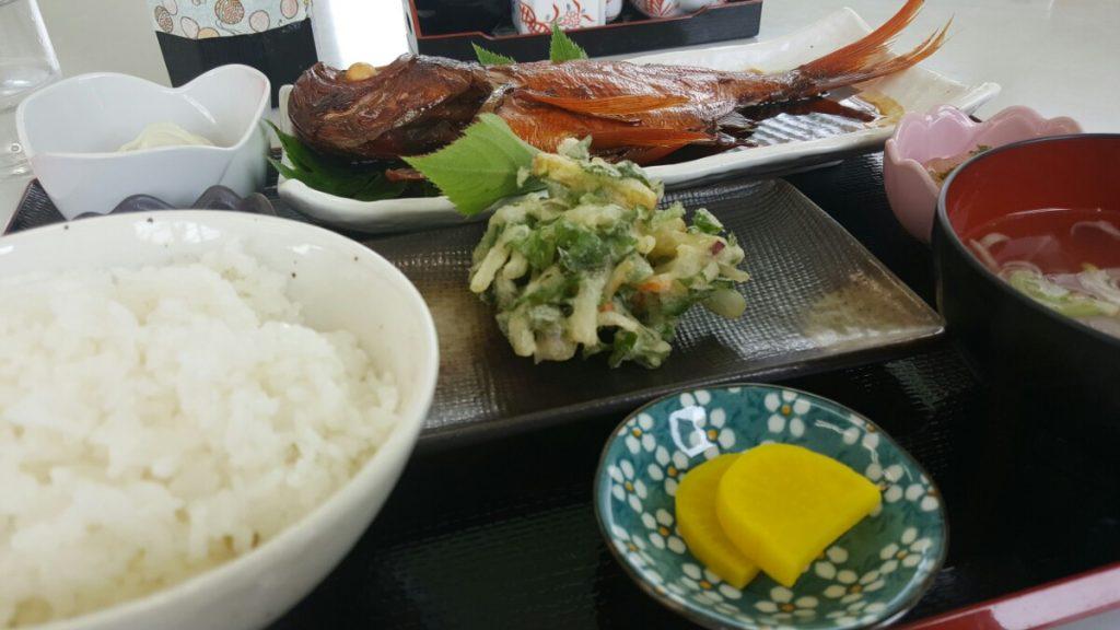 金目鯛の定食!|神津島の海の家