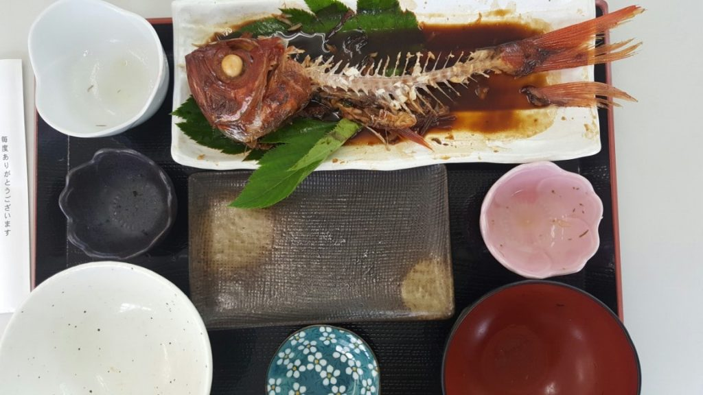 金目鯛の定食(終わり)!|神津島の海の家