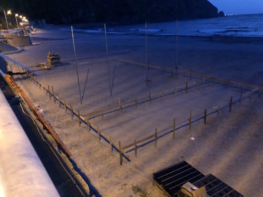 神津島海の家の遣り方